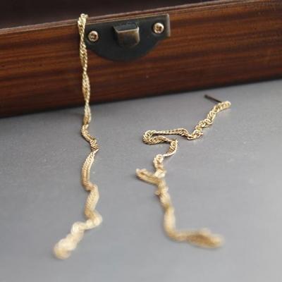 제이로렌 M02762 빈티지드롭 엔틱 체인 롱 귀걸이