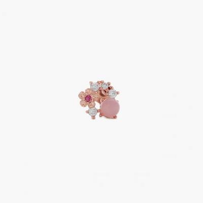 제이로렌 9M02291 큐빅 장미석원석 로즈골드 피어싱