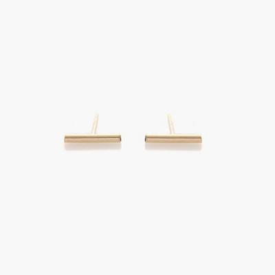 제이로렌 91G0106 Simple 일자바 14K Gold 귀걸이