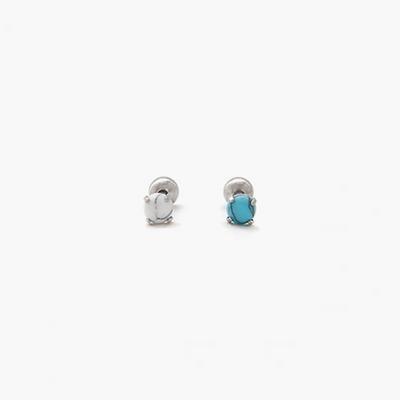 제이로렌 91M01477 터키석 하울라이트 원석 피어싱