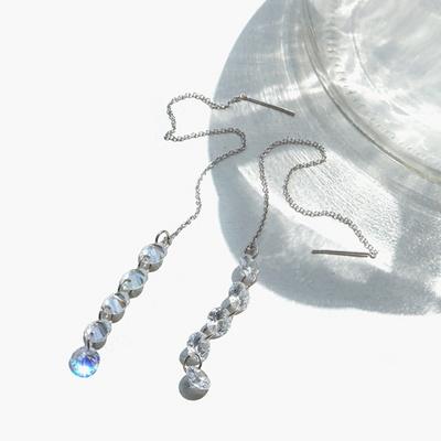 제이로렌 91M02641 리마인드 크리스탈 관통형 귀걸이