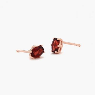 제이로렌 92M01789 탄생석 가넷원석 로즈골드 귀걸이