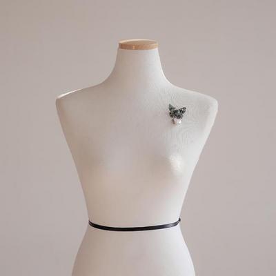 바이데이지 91Bh0150 나비 수초석 담수진주 브로치