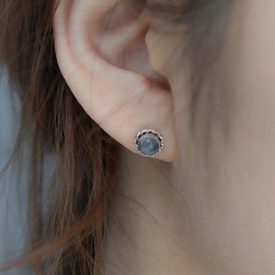 제이로렌 0M01344 12월탄생석 라피스라줄리 귀걸이