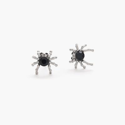 제이로렌 01M01464 블랙큐빅 써지컬스틸 거미 귀걸이