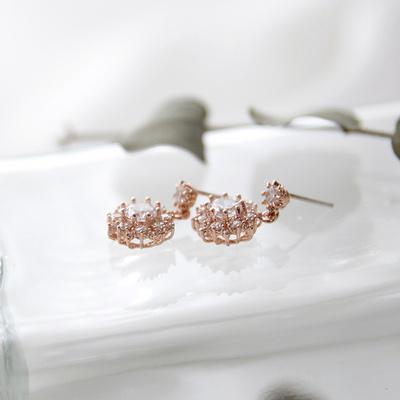 제이로렌 0M02822 시그니티 로즈골드 귀걸이