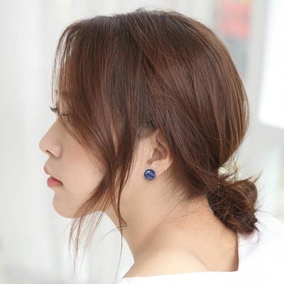 제이로렌 M03379 12월탄생석 실버 소다나이트 귀걸이