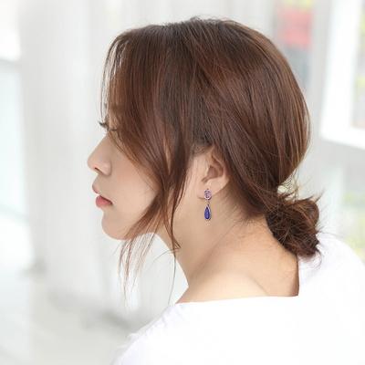 제이로렌 M03346 2월탄생석 자수정 라피스 귀걸이