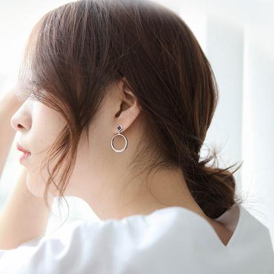 제이로렌 SM084 드롭링 클로버 귀걸이