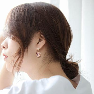 제이로렌 SM091 페이즐 무라노비즈 귀걸이