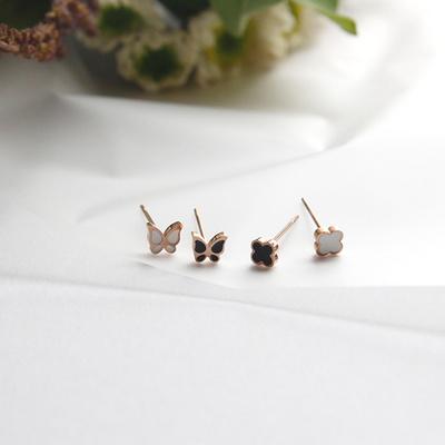 제이로렌 08M01528 데일리 써지컬스틸 나비 귀걸이