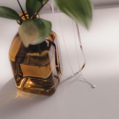 제이로렌 0N0922-2 볼드 베이직 뱀줄 실버목걸이(6mm)