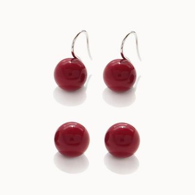 제이로렌 01M03285 빨간진주 기본 귀걸이
