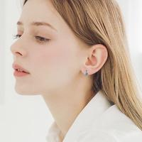 제이로렌 M03622 마카사이트 라운드 터키석 귀걸이