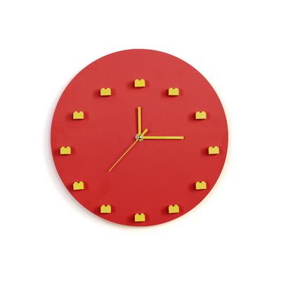 레고 미니피규어 DIY 벽시계 (Red)