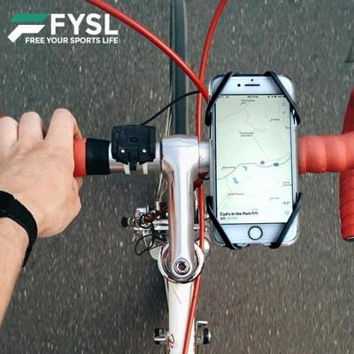 피슬 자전거 유모차 실리콘 핸드폰 거치대