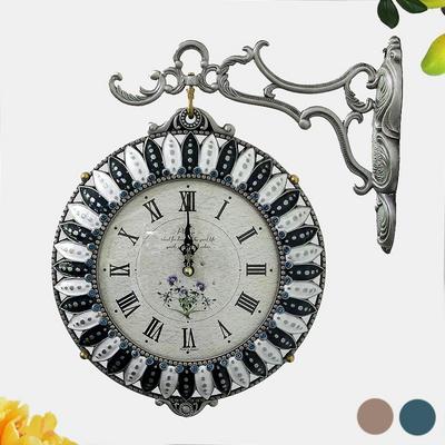 해바라기 꽃송이 양면시계 SUN-259