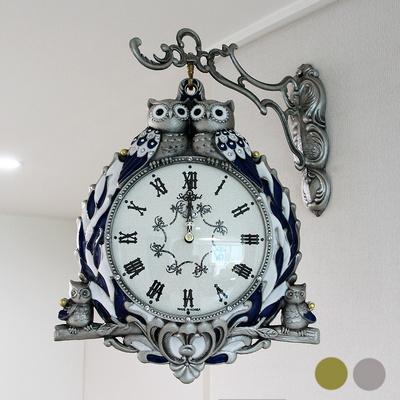 잉꼬 복부엉이 양면시계 SUN-261