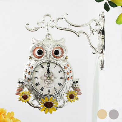 명당 썬-도금부엉이 양면시계 SUN-265