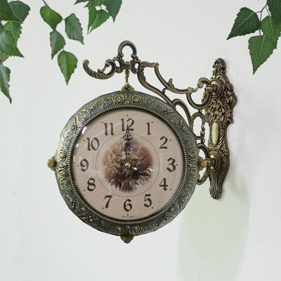 앤틱 그린로즈 양면시계 SUN-285