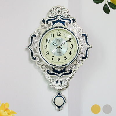 무소음 그랜드꽃 도금 추벽시계 SUN-166