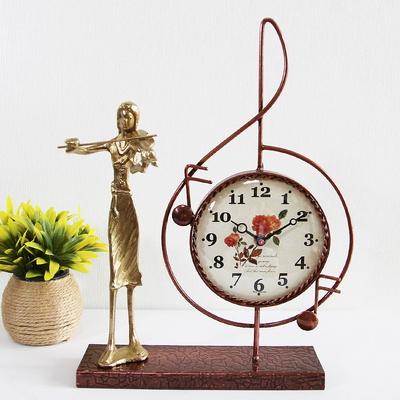 바이올린 조각상 동공예품 높은음 탁상시계 SCB-511