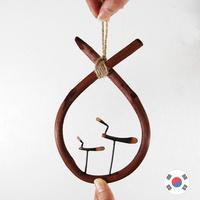 재물 소코뚜레(중) 솟대 풍수 장식품 SDW-708
