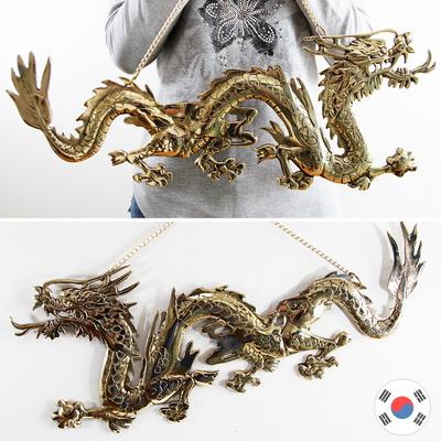 황룡 2p 좌우세트 조각상 동공예 벽장식품 SDW-705