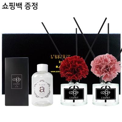 레스쁘리 디퓨저 카네이션 블랙라벨 선물세트 레드+핑크