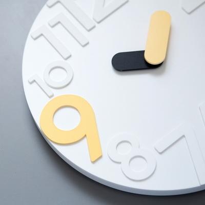 화이트 포인트 9  무소음 벽시계 (No-noise wall clock)