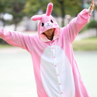 사계절동물잠옷-핑크토끼