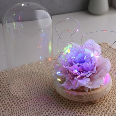 LED 무드 원목 유리돔 슬림 글라스돔 (대)