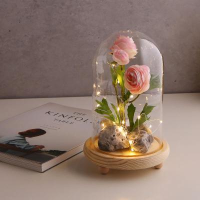 LED 무드 원목 유리돔 글라스돔 (대)