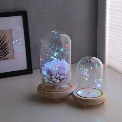 LED 무드 원목 유리돔 슬림 글라스돔 (소)
