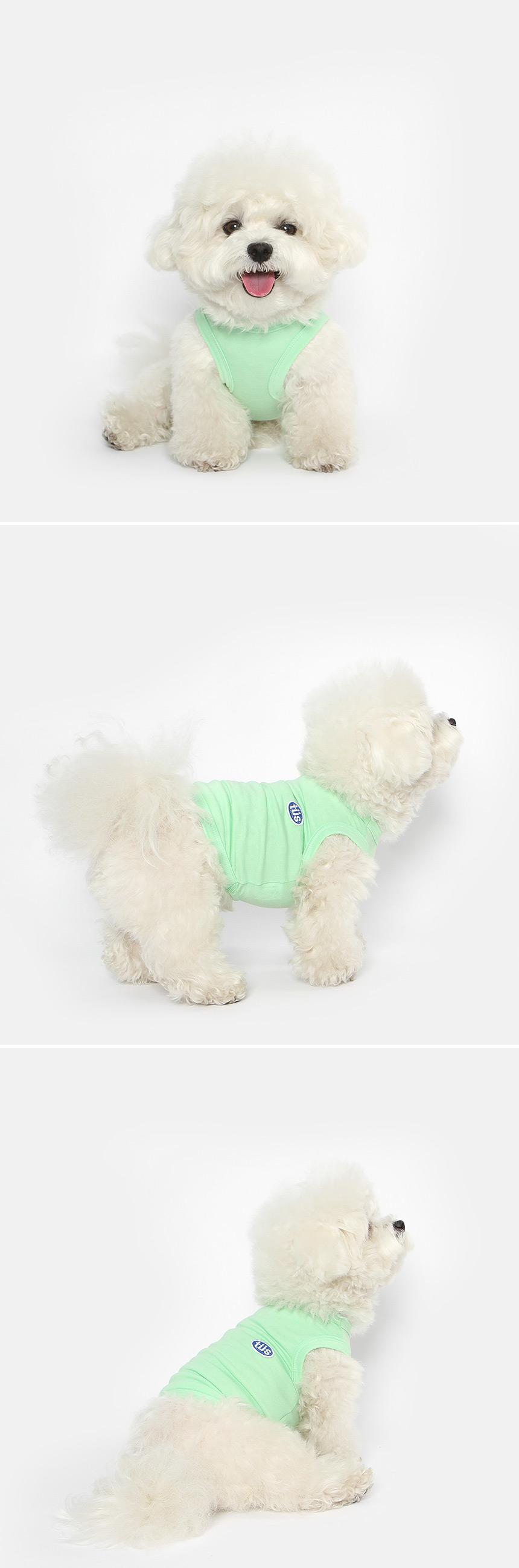 강아지 민소매 여름옷 (라임) - 투스투스, 14,000원, 의류/액세서리, 의류