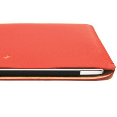 맥북프로 터치바 Macbook Pro 맥북 13형 가죽 파우치(로얄레드)