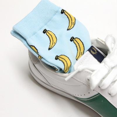 그래픽 코튼 삭스(banana)