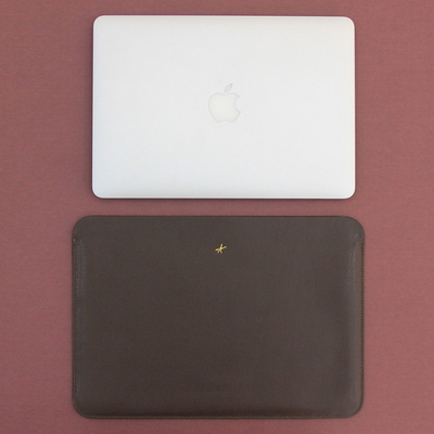 맥북프로 신형 터치바 Macbook Pro 맥북 13형 가죽 파우치(로얄다크브라운)