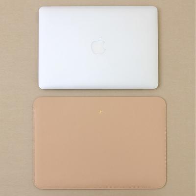 맥북프로 신형 터치바 Macbook Pro 맥북 13형 가죽 파우치(로얄베이지)