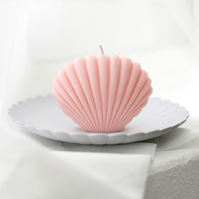 shell candle - pink
