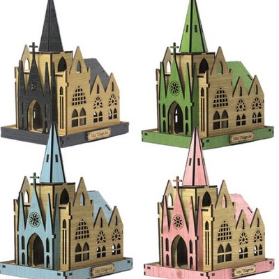 DIY나무모형 마을 시리즈4 성당