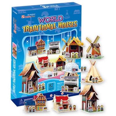 큐빅펀 3D퍼즐 다문화시리즈 세계전통가옥