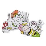 큐빅펀 컬러링 입체퍼즐 꿀벌 연필꽂이와 달팽이 액자