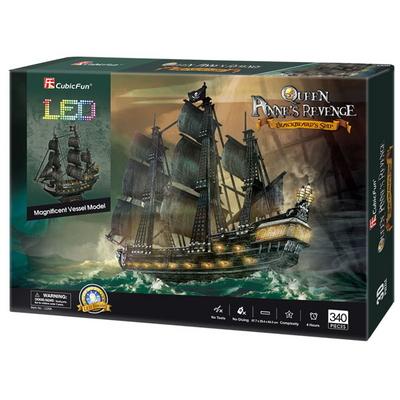 큐빅펀 3D퍼즐 해적선 앤여왕의 복수LED