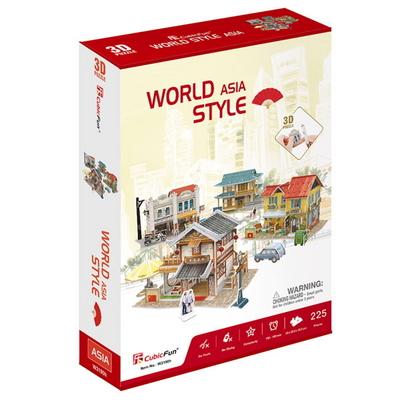 큐빅펀 3D월드스타일 아시아 전통가옥세트