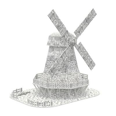 큐빅펀 컬러링 입체퍼즐 네덜란드풍차