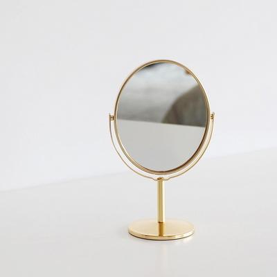골드 메탈 양면 탁상거울