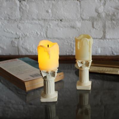 로마 양초 캔들 촛대 세트 (LED 조명 건전지초)