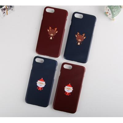 아이폰 X 8 산타와 루돌프 예쁜 커플 케이스 (전기종)