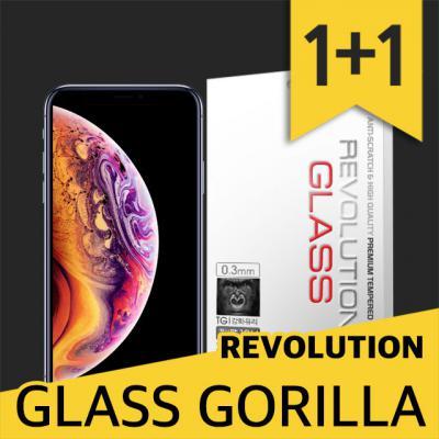 아이폰XS 레볼루션글라스 고릴라 0.3T 강화유리 2장 방탄액정보호필름